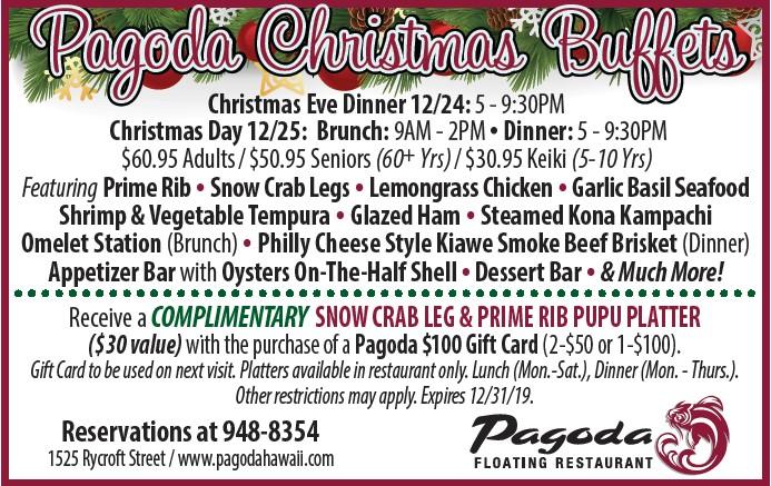 Pagoda Christmas Buffets